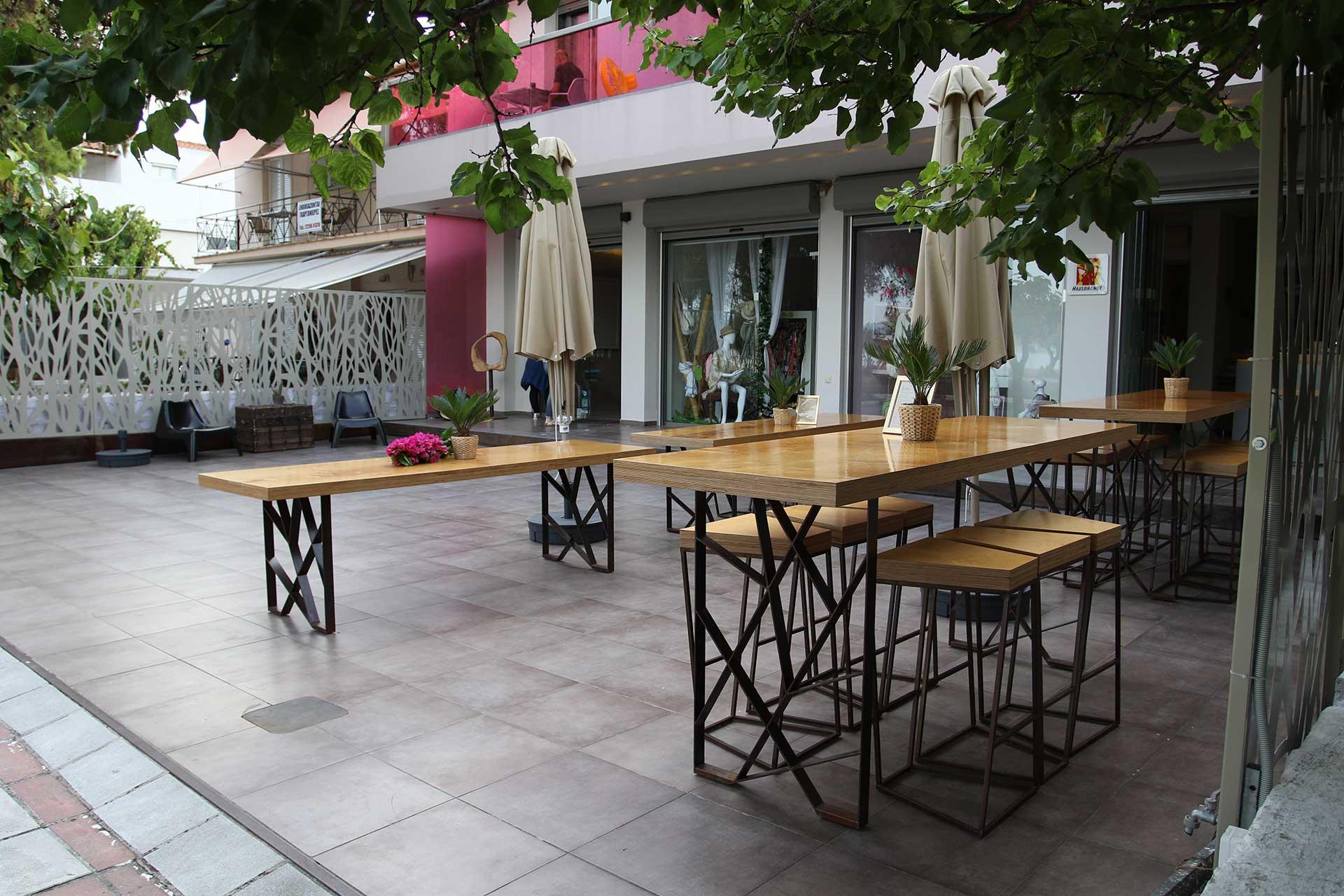 island apartments, art cafe & bar, on Pefki beach, North Evia, Greece