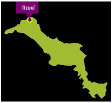 Evia island map - Pefki